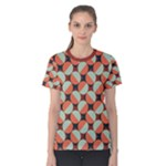 Modernist Geometric Tiles Women s Cotton Tee