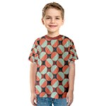 Modernist Geometric Tiles Kid s Sport Mesh Tee