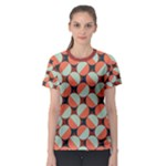 Modernist Geometric Tiles Women s Sport Mesh Tee