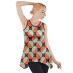 Modernist Geometric Tiles Side Drop Tank Tunic
