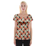 Modernist Geometric Tiles Women s Cap Sleeve Top