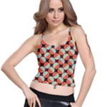 Modernist Geometric Tiles Spaghetti Strap Bra Top