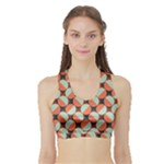 Modernist Geometric Tiles Sports Bra with Border