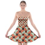Modernist Geometric Tiles Strapless Bra Top Dress