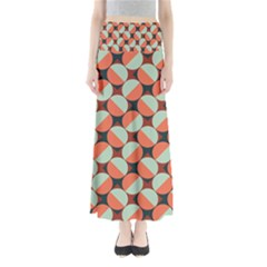 Modernist Geometric Tiles Women s Maxi Skirt by DanaeStudio