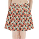 Modernist Geometric Tiles Pleated Mini Skirt View1