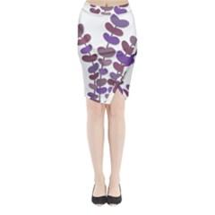 Purple Decorative Plant Midi Wrap Pencil Skirt by Valentinaart