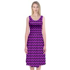 Girly Chevron 2 Midi Sleeveless Dress