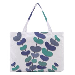 Blue Decorative Plant Medium Tote Bag by Valentinaart
