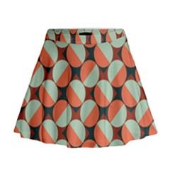 Modernist Geometric Tiles Mini Flare Skirt by DanaeStudio