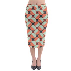 Modernist Geometric Tiles Midi Pencil Skirt by DanaeStudio