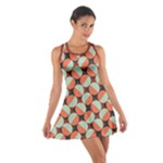 Modernist Geometric Tiles Cotton Racerback Dress