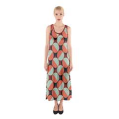 Modernist Geometric Tiles Sleeveless Maxi Dress