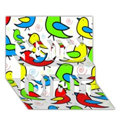 Colorful Cute Birds Pattern You Did It 3d Greeting Card (7x5) by Valentinaart
