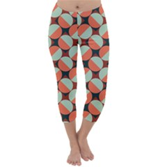 Modernist Geometric Tiles Capri Winter Leggings  by DanaeStudio