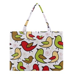 Decorative Birds Pattern Medium Tote Bag by Valentinaart