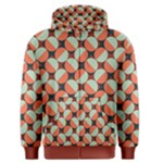 Modernist Geometric Tiles Men s Zipper Hoodie