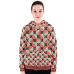 Modernist Geometric Tiles Women s Zipper Hoodie