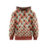 Modernist Geometric Tiles Kids  Zipper Hoodie