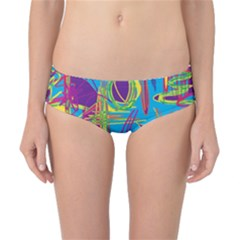 Colorful abstract pattern Classic Bikini Bottoms by Valentinaart