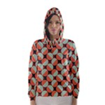 Modernist Geometric Tiles Hooded Wind Breaker (Women)