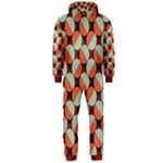 Modernist Geometric Tiles Hooded Jumpsuit (Men)