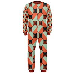 Modernist Geometric Tiles Onepiece Jumpsuit (men) by DanaeStudio