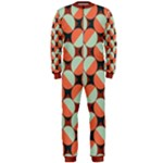 Modernist Geometric Tiles OnePiece Jumpsuit (Men)
