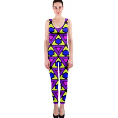 Triangles And Honeycombs Pattern                                                                                                   Onepiece Catsuit by LalyLauraFLM
