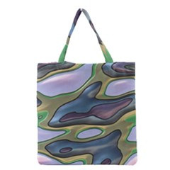 3d Shapes                                                                                                      Grocery Tote Bag by LalyLauraFLM