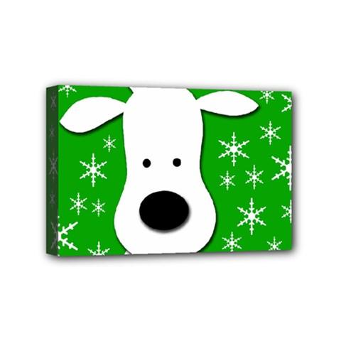Christmas reindeer - green Mini Canvas 6  x 4