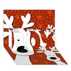 Christmas Reindeer   Red 2 Boy 3d Greeting Card (7x5) by Valentinaart