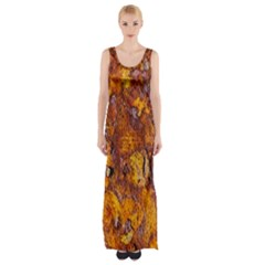 Rusted Metal Surface Maxi Thigh Split Dress by igorsin