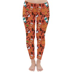 Pumpkin Spice Winter Leggings  by WeirdosAnonymous