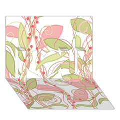 Pink And Ocher Ivy 2 I Love You 3d Greeting Card (7x5)