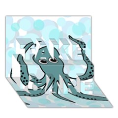 Octopus Take Care 3d Greeting Card (7x5) by Valentinaart