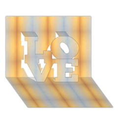 Blue Yellow Summer Pattern Love 3d Greeting Card (7x5) by Costasonlineshop