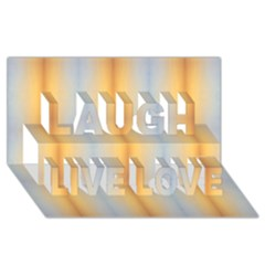 Blue Yellow Summer Pattern Laugh Live Love 3d Greeting Card (8x4) by Costasonlineshop