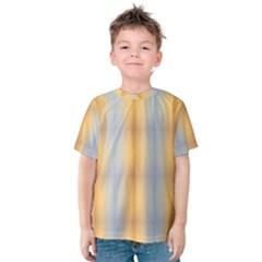 Blue Yellow Summer Pattern Kids  Cotton Tee