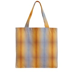 Blue Yellow Summer Pattern Zipper Grocery Tote Bag by Costasonlineshop