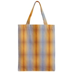 Blue Yellow Summer Pattern Zipper Classic Tote Bag