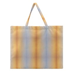 Blue Yellow Summer Pattern Zipper Large Tote Bag by Costasonlineshop