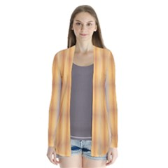 Blue Yellow Summer Pattern Drape Collar Cardigan by Costasonlineshop