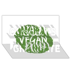 Vegan Label3 Scuro Congrats Graduate 3d Greeting Card (8x4) by CitronellaDesign