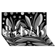 Gray Plant Design #1 Dad 3d Greeting Card (8x4)