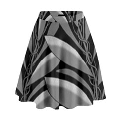 Gray Plant Design High Waist Skirt by Valentinaart