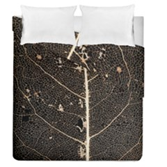 Vein Skeleton Of Leaf Duvet Cover Double Side (Queen Size) by Zeze