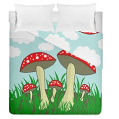 Mushrooms  Duvet Cover Double Side (queen Size) by Valentinaart