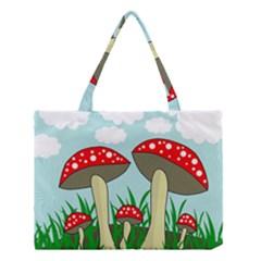 Mushrooms  Medium Tote Bag by Valentinaart