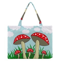 Mushrooms  Medium Zipper Tote Bag by Valentinaart